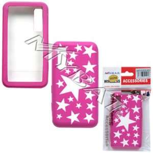 SAMSUNG BEHOLD T919 HOT PINK STARS SILICONE SKIN COVER
