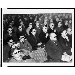 3D films,Festival of Britain,smoke colored glasses 1954: