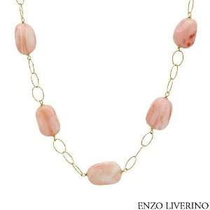 Gold Coral Ladies Necklace. Length 24 in. Total Item weight 42.8 g