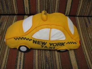 15 plush New York Taxi Cab Car Pillow, good condition