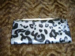 gray leopard printed fancy wallet new clutch wallets