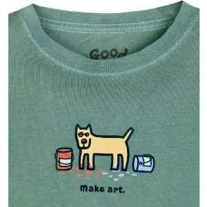 Life Is Good Inc. Make Art Girls Crusher Tee   Dill M