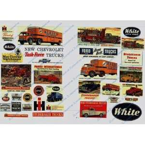 VINTAGE TRUCK SIGNS (33)   JL INNOVATIVE DESIGN HO SCALE MODEL TRAIN