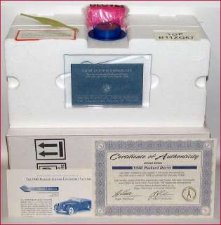 FRANKLIN MINT 124 1940 PACKARD DARRIN D4C LE   NEW IN BOX