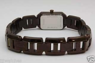 New Fossil Women Steel IP Brown Dress Watch 15mm x 30mm ES2095