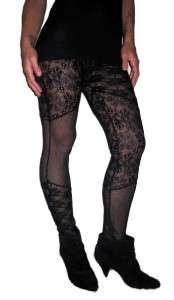 BLACK CELEBRITY CROCHET BOHO LEGGING PANT LARGE♥