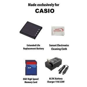 Li Ion Extended Life Replacement Battery Pack For The Casio NP