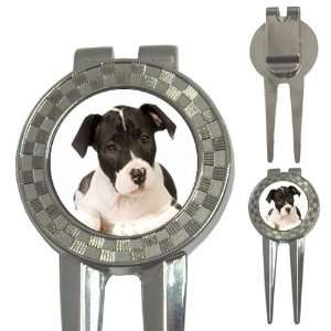 American Staffordshire Puppy Dog Golf 3 in 1 Divot Tool