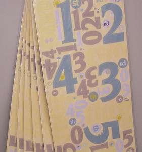 6x Cloud9 Beach Scrapbooking Large Number Stickers 071