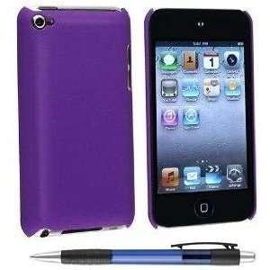 Apple Ipod Touch 4 Purple Base Design Snap on Hard Cover Case + Bonus