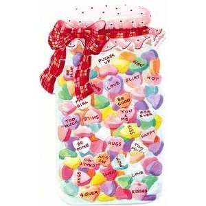 Valentines Day Greeting Card   Candy Hearts