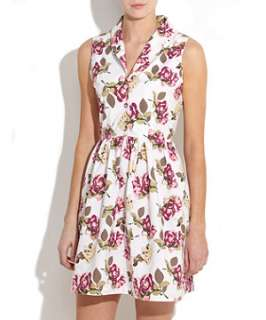 White (White) Innocence White Floral Dress  252507110  New Look