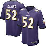 Mens Nike Baltimore Ravens Ray Lewis Game Team Color Jersey