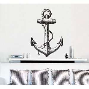 Vinyl Wall Art Decal Sticker Antique Ship Anchor