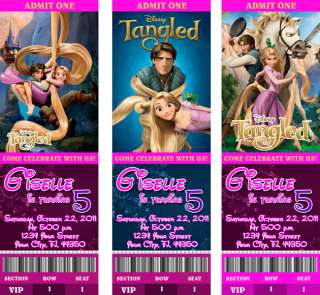 Tangled Birthday Party Personalized Ticket Invitations