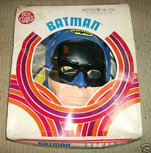 BATMAN Ben Cooper Halloween Costume VG 1970 Diamond Run
