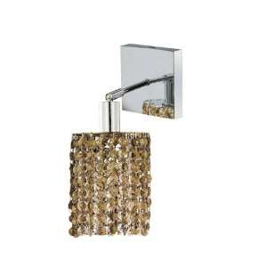 Elegant Lighting 1281W S R GT/RC Mini 8 Inch High 1 Light Wall Sconce