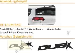 E154 Shocker DUB OEM Style Aufkleber Sticker Auto VW