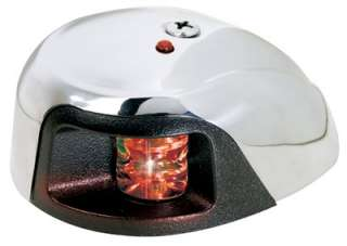 Attwood 3550R7 Stainless Steel Led Navigation Light Red Deck Mount