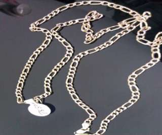 10K Yellow Gold Figro Link Chain Necklace Diamond Cut