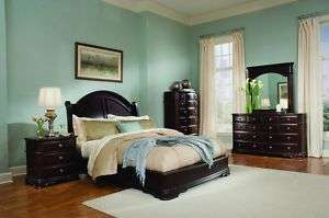 FABULOUS 5 PIECE LOW PROFILE QUEEN PLATFORM BED BEDROOM FURNITURE SET