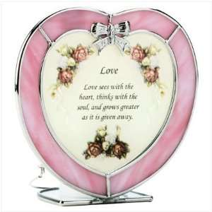 Heart Shaped Love Plaque and Candle Holder