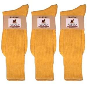 Alpaca Classic Socks   3 Pairs Small   Light Yellow