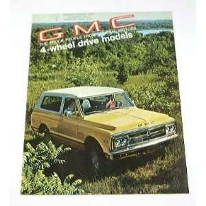 1970 70 GMC JIMMY Truck BROCHURE KE KS 1500 2500