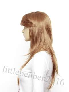 Fashion Long Wig Hair Straight Wig Oblique Fringe FZ505 Full