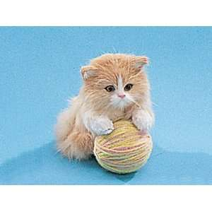 Cat Small Paws On Ball Decoration Collectible Play Cute Furry Handmade