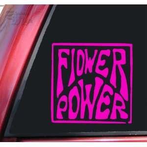 Flower Power Vinyl Decal Sticker   Hot Pink Automotive