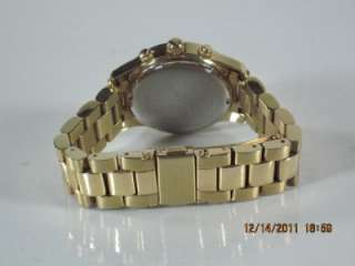 Michael Kors MK 5384 Womens Goldtone Chronograph Date Dial Stainless