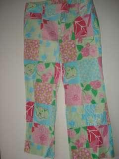 Mimi Maternity Patchwork Cropped Capri Pants M CQ