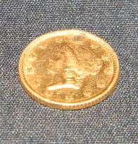 ANTIQUE UNITED STATES 1854 LIBERTY HEAD GOLD DOLLAR