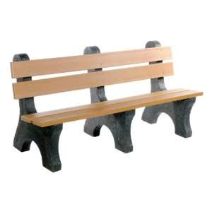 Colonial Recycled Plastic Outdoor Bench 6 L Patio, Lawn & Garden