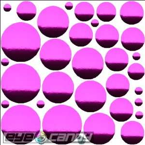 34 Chrome Rasberry Polka Dots Wall Stickers Decal Word