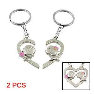 Magnetic Heart Pendant Lovers Kiss Accent Couple