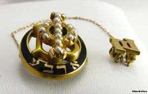 GAMMA PHI BETA   14k Gold sorority Pearled Badge PIN