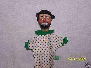 Vintage 1950 EMMETT KELLY as WILLIE THE CLOWN puppet