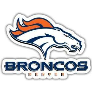 Denver Broncos NFL Football car bumper sticker 5 x 4