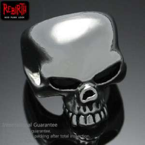Punk Rock Emo Gothic Metal Skull Ring Size 7
