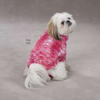 Zack & Zoey Warm & Fuzzy Knit Gumdrop Dog Sweater Pink