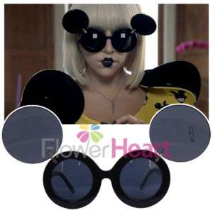 NEW Lady Flip Up Black Mouse Sunglasses Paparazzi GAGA