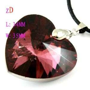 C8362 Charm Faceted Heart Crystal fashionable Pendant