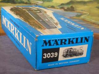 HO 187 Marklin 3039 German Electric Locomotive DB 110234 2