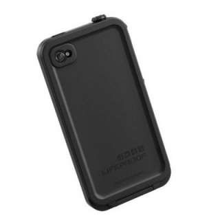New Lifeproof Waterproof Black Apple iPhone 4 4S Cover Skin Case Life