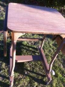 stand antique vintage wood industrial Machine age table desk