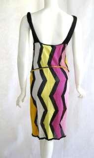 Missoni Sport womens stripe ring tank dress 46 $795 New
