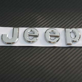 3D badge Jeep Emblem Logo Sticker Decal chrome Wrangler Grand Cherokee