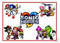 SONIC Heroes All 4 Teams T Shirt Iron On Transfer